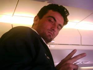 Alexandre no Avião  Foto: Valter Bittencourt